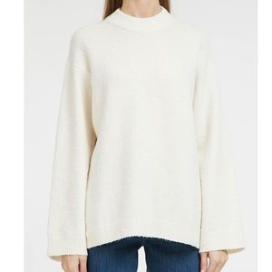 NEW Elizabeth And James Josette Boucle Sweater L